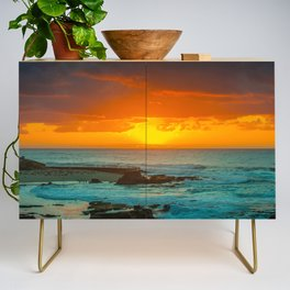 Sunset over childrens pool Credenza