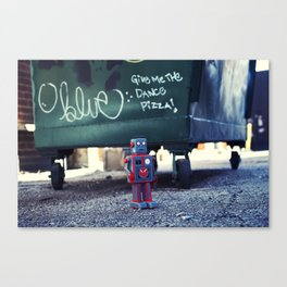 Give me the DANCE pizza Canvas Print