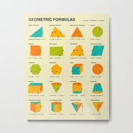 GEOMETRIC FORMULAS Metal Print