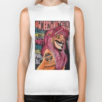 simba Biker Tanks featuring Captain Simba Sparrow of Pride Rock by Frances May K