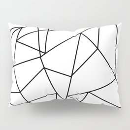 Simple Modern Black and White Geometric Pattern Pillow Sham