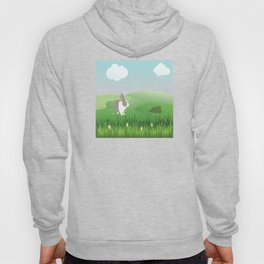 Dutch rabbit in field Hoody