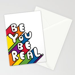 Be You Be Real Stationery Cards