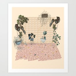A Brazilian Backyard Art Print