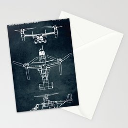 BELL BOEING V-22 OSPREY -1989 Stationery Cards