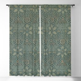Ispahan by William Morris 1888 Antique Vintage Pattern CC0 Spring Summer Blackout Curtain