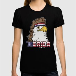 'Merica - Fourth of july American Mullet Eagle T-shirt