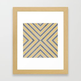 Stripes in Grey and Yellow-bold Framed Art Print