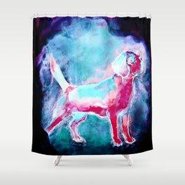 The Beagle Dog Shower Curtain