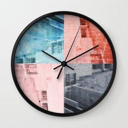 Popart Building Wall Clock