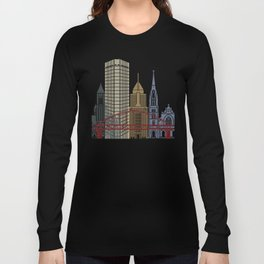 Pittsburgh V2 skyline poster Long Sleeve T-shirt