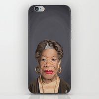 celebrity iPhone & iPod Skins featuring Celebrity Sunday ~ Maya Angelou by rob art | illustration