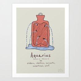 Aquarius V2 Art Print