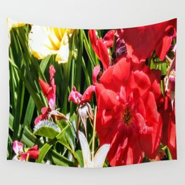 Reds and Yellows Blooming Wall Tapestry