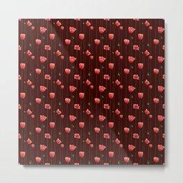 Poppies on Garnet Metal Print
