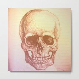 Faded Skull Metal Print