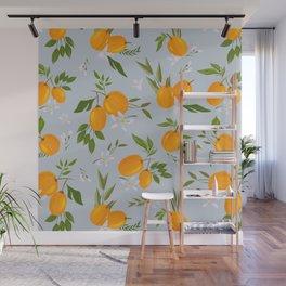 Blue kumquat Wall Mural