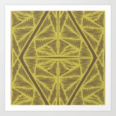 Tendons Saffron Art Print