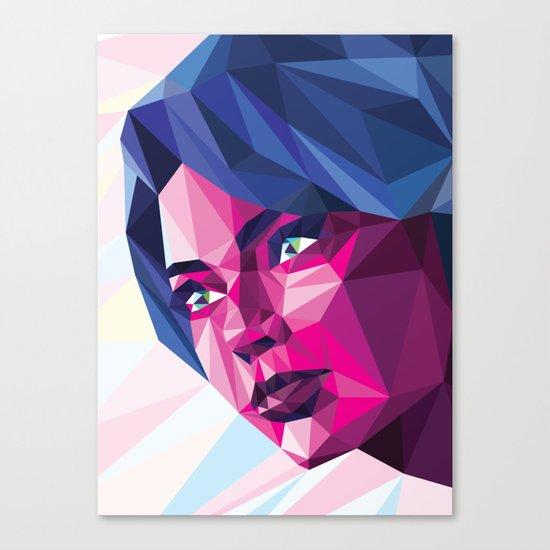 Magenta girl Canvas Print