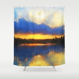 Big Cypress Sunrise Shower Curtain