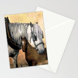 Plow Horse and Foal Stationery Cards