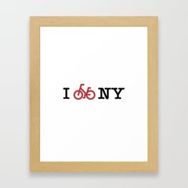 I bike NY Framed Art Print