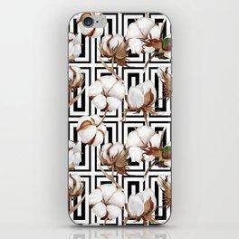 Cotton Flower Pattern 08 iPhone Skin