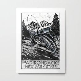 """Upstate Rainbows"" Original Trout Art,  Fly Fishing Artwork, Fishing Decor, Adirondack Decor Metal Print"