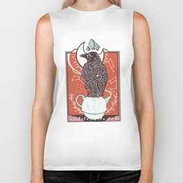 tea time with mr. crow Biker Tank