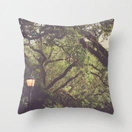 Twilight in Audubon Park New Orleans Throw Pillow