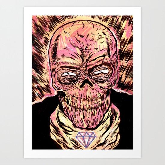 Señor Muerte Art Print