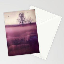 Winter Plum Stationery Cards