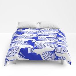 ginkgo cobalt blue Comforters