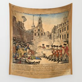 The bloody massacre perpetrated in King Street Boston on March 5th 1770 Wall Tapestry