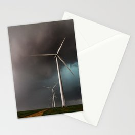 Wind Farm - Renewable Energy on the Texas Plains Stationery Cards