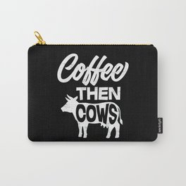 Cow Coffee Carry-All Pouch
