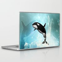 orca Laptop & iPad Skins featuring The orca by nicky2342