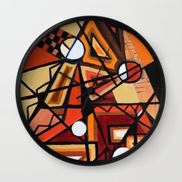 Geometric Composition Wall Clock