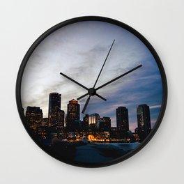Christmas in Boston Wall Clock