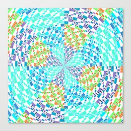 Vintage Whirlwind Spiral Quilt Patchwork Canvas Print