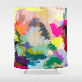 Colour Collision Shower Curtain