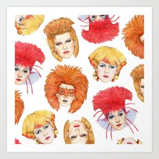 Four Faces Of Toyah Art Print