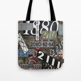 House Numbers Tote Bag