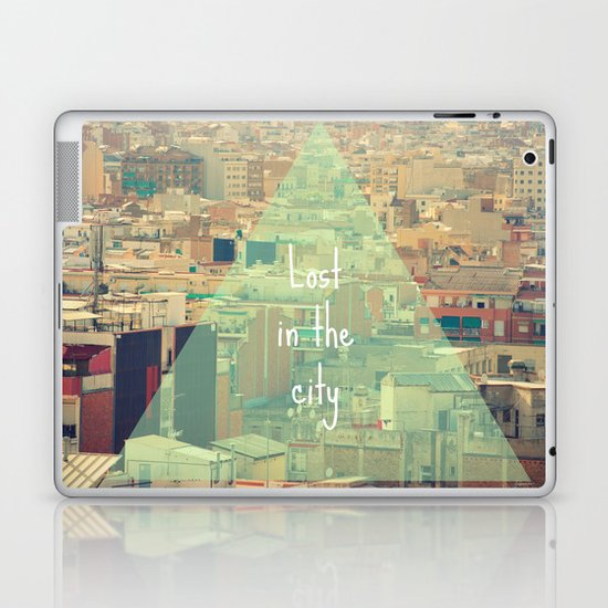 Lost in the city Laptop & iPad Skin