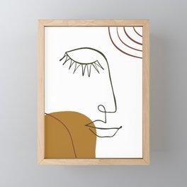 Line Art-Abstract Composition Framed Mini Art Print