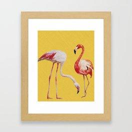 Bold Flamingo Caribbean and Tropical inspired design Framed Art Print