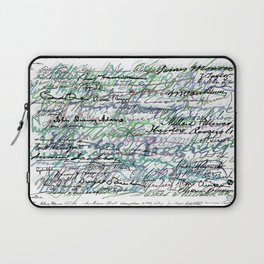 All The Presidents Signatures Teal Blue Laptop Sleeve