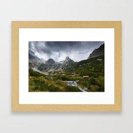Under the peak Framed Art Print