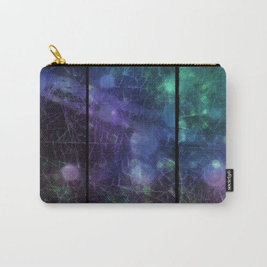 Purple,  Green and Blue Carry-All Pouch