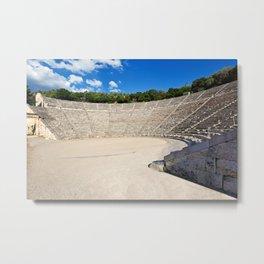 Asklepieion Ancient Theater Epidaurus (340  B.C.), Greece Metal Print